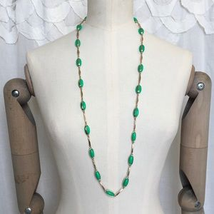 J.Crew Green Necklace